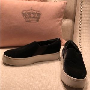 Vince slip on platform sneakers velvet